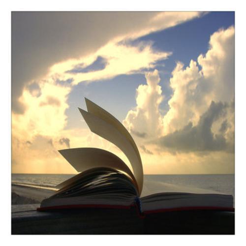 book in clouds