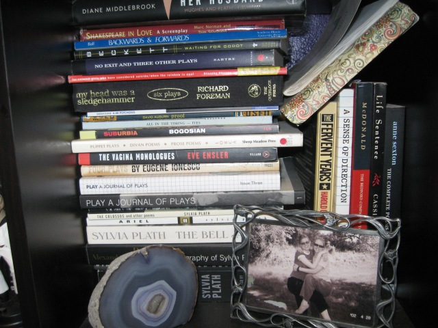 poetry and plays shelf