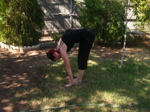 photo of uttanasana