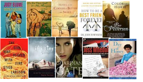 Image of books on February list